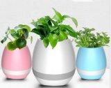 Haut-parleur de Bluetooth d'éclairage LED de Flowerpot de musique intelligente de nouveau produit mini