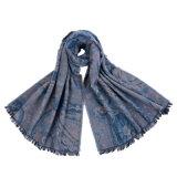 Кашемир женщин акриловый реверзибельный как шарф шали зимы печатание теплый толщиной связанный сплетенный (SP268)