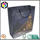 Bolsa de papel del regalo de la Navidad de la maneta del algodón de la impresión de color