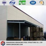 Almacén de madera de acero prefabricado con el pabellón