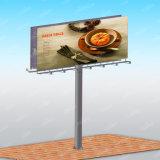 Le double a dégrossi le panneau-réclame léger de publicité en acier d'endroit