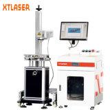 La máquina de grabado del laser de la fibra del metal con protege el caso