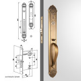 Zinc Alloy di lusso Single Cylinder Mortise Handleset Lock Trim Set in Antique Yellow Bronze