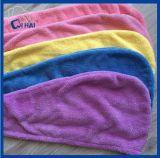 Protezione di corallo dei capelli asciutti del panno morbido di Microfiber (QHM83217)