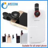 Obiettivo di macchina fotografica del telefono mobile 3 in 1 obiettivo di zoom dell'obiettivo per il telefono mobile con l'obiettivo grandangolare di Fisheye Lens+ Lens+Macro
