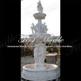 Fuente blanca Mf-394 de Carrara de la fuente de la piedra de la fuente de la fuente de mármol del granito