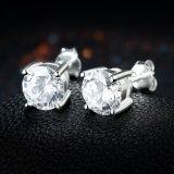 925 de echte Zilveren Juwelen van het Ontwerp van de Manier van de Oorringen van de Boor van 8m voor Vrouwen