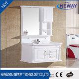 高品質の白い純木の映された浴室の虚栄心
