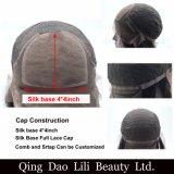 Tipo rubio humano pelucas llenas superiores de seda de la onda de la carrocería del pelo de Remy del cordón