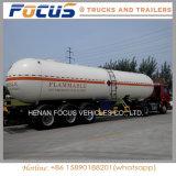 Reboque do caminhão de petroleiro do aço de carbono de 3 eixos para a entrega Fuel Oil