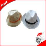 Chapéu de Sun do chapéu de palha do chapéu de palha da cavidade do chapéu de palha da arremetida do chapéu do Fedora