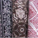 Senhora impressa sintética tecida planície Pingamento Tela da tela de algodão