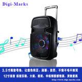 Il pollice 100W del migliore venditore 15 impermeabilizza gli altoparlanti mobili del carrello della torretta di karaoke della chitarra con un microfono di due VHF