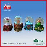 Base Handmade personalizzata resina del treno di automobile del globo della neve dell'acqua del globo della neve di alta qualità