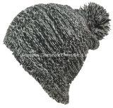 ポンポン(HJB-063)が付いている方法100%Acrylic帽子の帽子