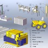 移動式煉瓦機械価格Qmy6-25の移動式空の煉瓦機械価格