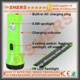 Солнечный свет СИД с 1W электрофонарем, факел 0.5W (SH-1915)