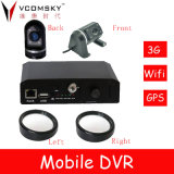 4 CH GPS/3G Car Mobile DVR con il H. 264 Compression Video Recorder, Use per Auto/Truck/Bus/Taxi