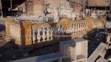 De gouden Balustrade van de Travertijn voor Meubilair & Bouwmateriaal mbal-002 van het Huis