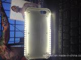 Het nieuwe Hete LEIDENE van Luminated van de Luxe Geval van de Telefoon met Bank van de Macht van het Geval van PC Selfie de Harde voor het Geval van de Dekking van de Telefoon van de Cel van iPhone 5/5s/Se/6