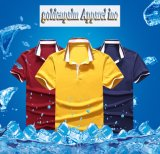 Baumwollrippen-Stutzen-Ebenen-Polo-Hemd-Fabrik des 65% Polyester-35%