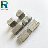 화강암 대리석 돌 절단을%s 24X9.5X10mmdiamond 세그먼트