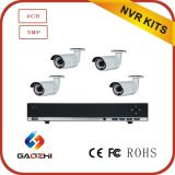 Kit -3MP Outdoor Poe Bullet Camera Poe Network NVR Kits di 4CH NVR Surveillance