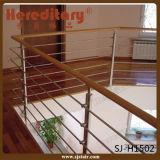 Balaustrada do quadrado do aço inoxidável com o corrimão da madeira contínua (SJ-S304)