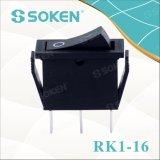 Soken Rk1-16 1X2 encendido en el interruptor de eje de balancín
