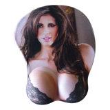 Мягкий сексуальный коврик для мыши силикона девушки 3D шаржа большой