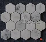 屋内壁および床の装飾のための白い大理石のモザイク