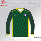 Do Sublimation novo da tintura de Healong futebol uniforme Jersey inteiramente