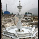 رخاميّة نافورة حجارة نافورة صوّان نافورة بيضاء كراره نافورة [مف-714]