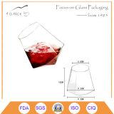 350mlカスタムホウケイ酸塩菱形ビールガラスのコップ