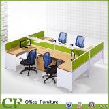 Конструкция l форменный рабочая станция 6 Seater Modren офиса
