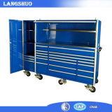 Carro/armário móveis da ferramenta da gaveta do ferro com o trole profissional da ferramenta do metal da roda