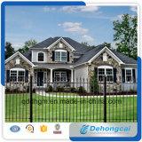 Heißer Verkauf, Qualität, dekoratives, antikes, starkes, Sicherheit, Stangen-Oberseite, Zaun-Panels, bearbeitetes Eisen-Zaun für Haus und Garten, Schule