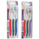 Toothcare Familien-Satz-Zahnbürste (3PCS in einer Blase Papier)