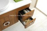 Moderner heißer Verkaufs-hölzerner Muster-Badezimmer-Eitelkeits-Schrank mit Kreis-Spiegel