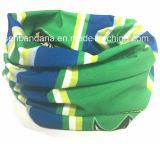 Nach Maß preiswertes förderndes Firmenzeichen druckte Polyester magischer UVschutz kundenspezifisches lederfarbenes Headwear