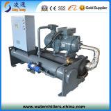 Refrigerador de enfriamiento del tornillo de la caldera industrial de la reacción/refrigerador de agua de rosca de enfriamiento