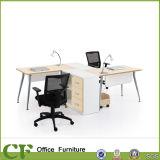 Перегородка рабочего места офиса 2 мест алюминиевой ноги доски MFC эргономическая самомоднейшая для штата