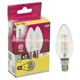 Luz por atacado da vela do diodo emissor de luz da lâmpada 4W E14 do bulbo do filamento da fábrica