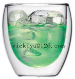 Glascup-doppel-wandiges Glascup des bier-250ml