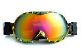 Kundenspezifische Abstand PC Ski-Schutzbrillen mit Antibeleg-Silikon-Brücke
