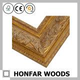Изображение ретро строительного материала гостиницы деревянные или рамка зеркала
