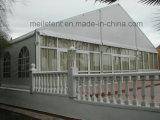 Snowproofの白い屋根の上のガラス壁の結婚式の玄関ひさしのテント10m*30m