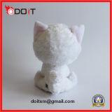 Brinquedo branco do cão de brinquedo do gato do luxuoso dos olhos grandes