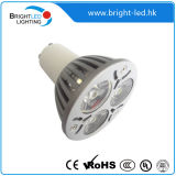 3*1W 3W LED Unterseite der Punkt-Beleuchtung-MR16/Gu10W/E27