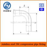 Edelstahl-Rohrpressfitting Einzel Compression 90 Grad Krümmer
